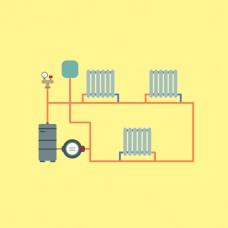 Монтаж и установка двухтрубнной системы отопления